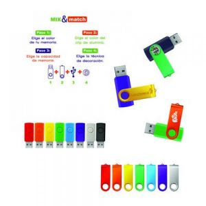 USB 8GB GIRATORIA MIX & MATCH